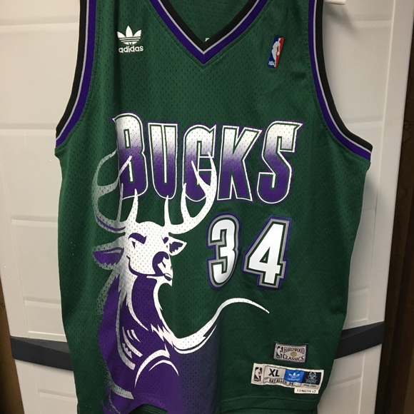 various colors 7fc32 7b939 NBA Adidas Swingman Ray Allen Bucks Jersey Size XL